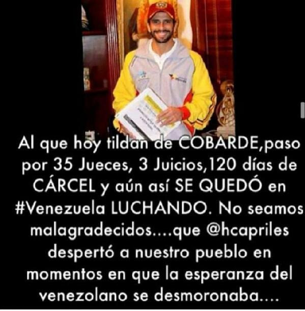 por si acaso...creo que la inmadures politica como venezolanos debe cesar.no le pegueis a tu familia http://t.co/Z5Cjqk5QO2