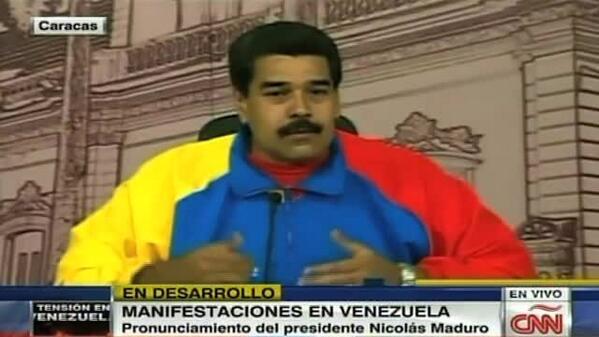 Maduro amenaza con sacar a CNN del aire por cubrimiento de la crisis http://t.co/H0tVmybsRe http://t.co/zt83OuKm4g
