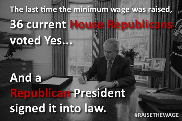 Remember when a Democratic Congress worked with a Republican President to #RaiseTheWage? #TBT #throwbackthursday http://t.co/Ko9dB9vPUe