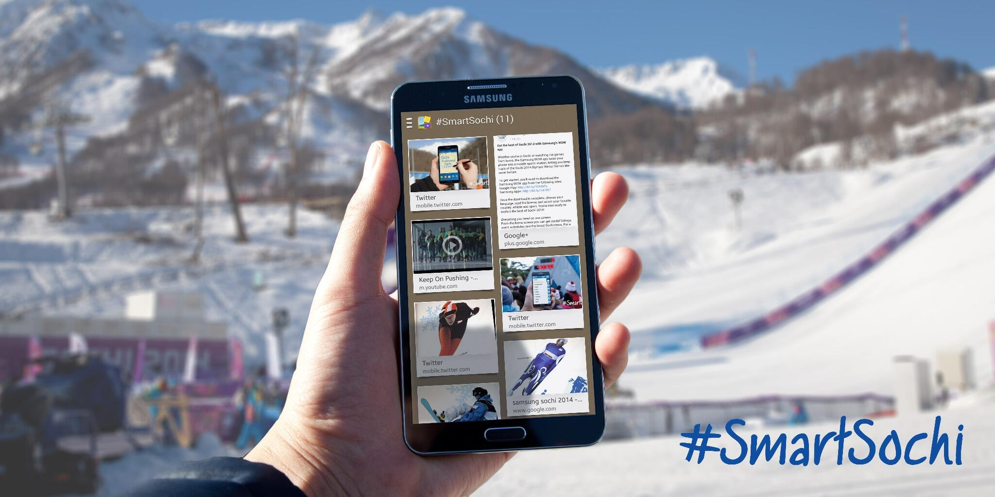 Collect & categorize your #Sochi2014 memories with Scrapbook on the #GALAXYNote3. http://t.co/ZmkG3MsQzM