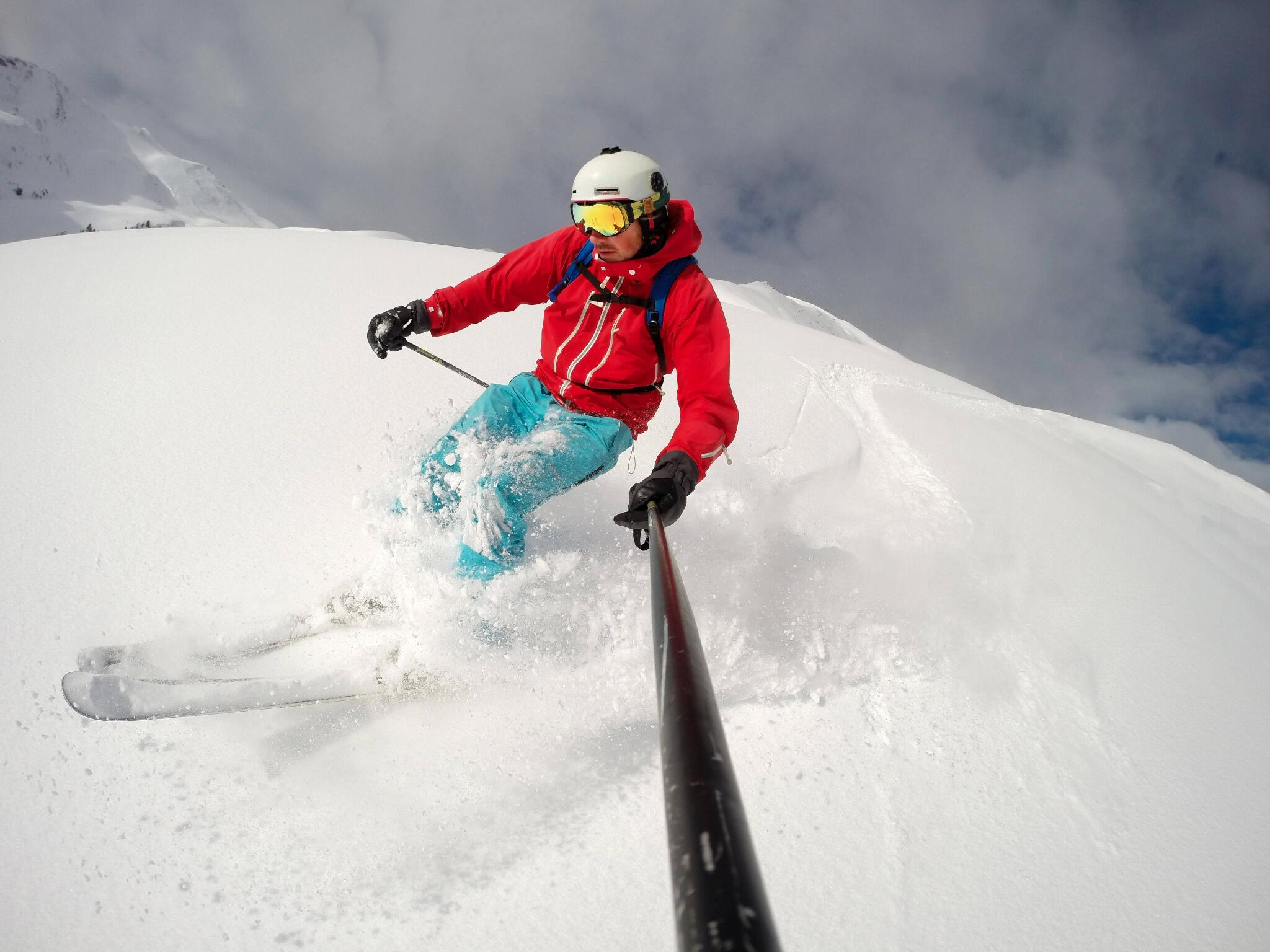 Photo of the Day! Powder day in Saalbach Hinterglemm in Austria. Photo by @duelago. #GoPro #Snow http://t.co/7XopSNJerG