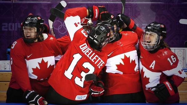 #GOLD!!!!  #Canada wins women's hockey gold 3-2 over #USA in OT. #4Peat #GoldCanadaGold #WeAreWinter @CTVVancouver http://t.co/Xsk7Bh0KbO