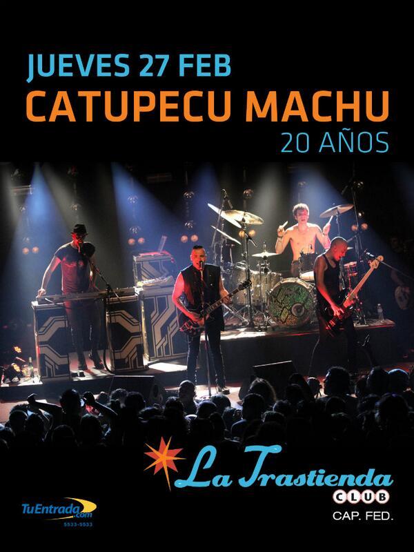 SORTEAMOS ENTRADAS para el show de @catupecuoficial entre todos los que hagan RT! El 26/02 anunciamos ganador! http://t.co/zsXIhwCFJC