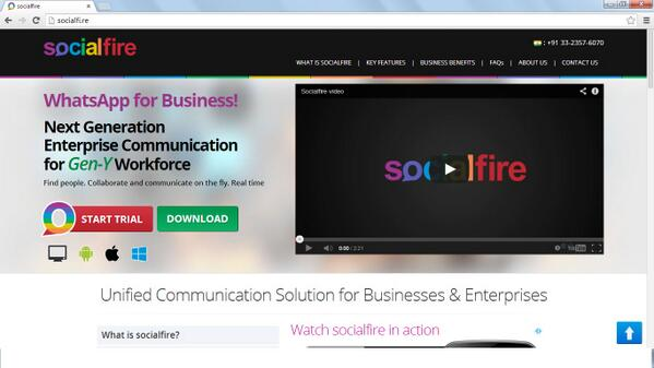 Peek into Socialfire (http://t.co/KT6K8FCKGm  ) - #WhatsApp + #Twitter + #Skype for Business! cc @abhishekrungta http://t.co/eoYWScoOUn