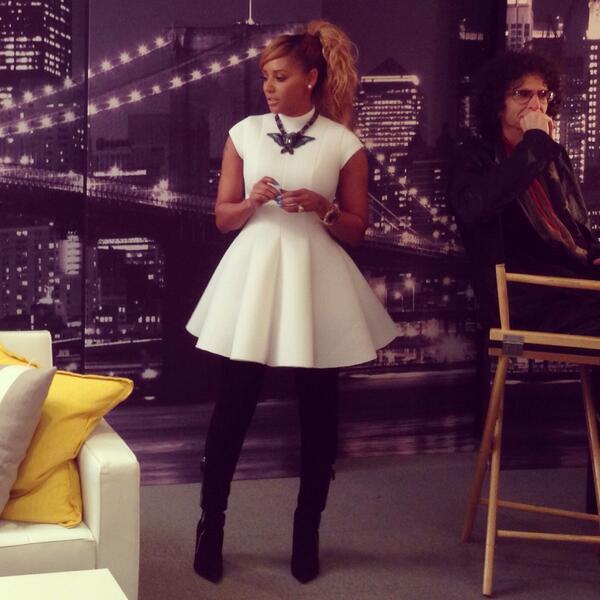 @OfficialMelB kills it in @laquan_smith dress #lanvin necklace #gianvitorossi thigh boots #winning #AGT http://t.co/U2LJsAJZTq