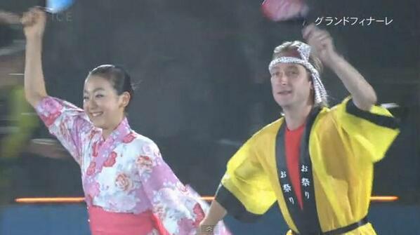 test ツイッターメディア - お祭り衣装のプルシェンコ×浅田真央ちゃん なんかすごくいい!! https://t.co/UsrkVeM66O