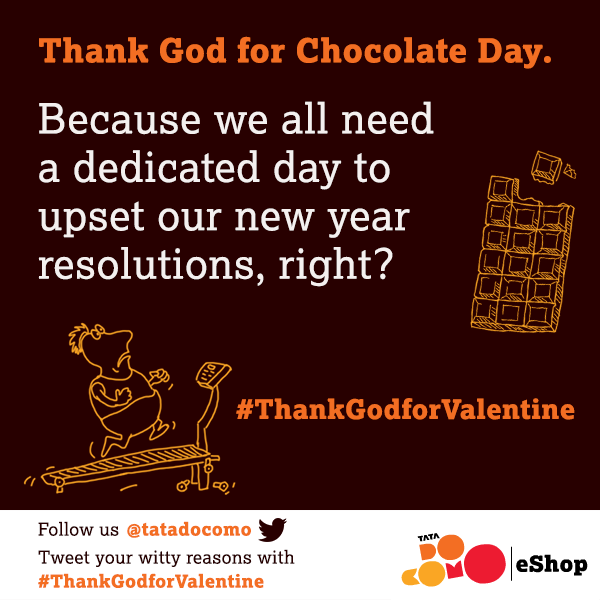 "#HappyChocolateDay! Why are you ""thankful"" for Chocolate Day? Tweet your witty reasons with #ThankGodforValentine http://t.co/miXSHuyjEm"