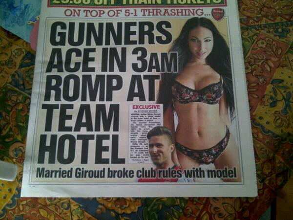BgBj8KCIYAADdgf Celia Kay, accused of a 3am romp with Arsenals Olivier Giroud, cryptically tweets we did NOT sleep together