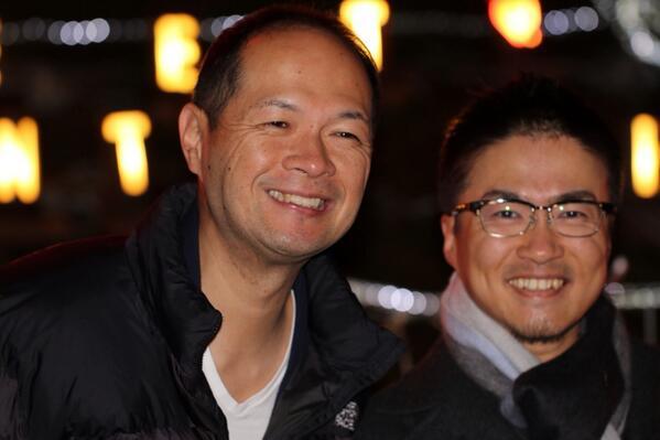 樋渡市長 @hiwa1118 と 乙武さん in 飛龍窯。お互い初対面と思えないほど盛り上がってました。 http://t.co/8y1iVih1VW