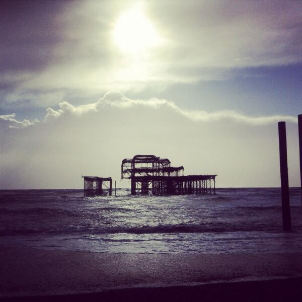 The West Pier as it currently stands. Lots of people down there today. Tweet us your pics. #brighton http://t.co/JmdK1TtSgB