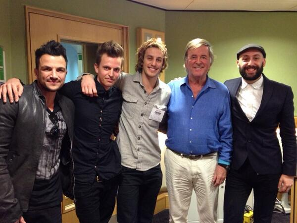 On radio 2 with Peter Andre and Terry Wogan: http://t.co/OHjoo5Mta0