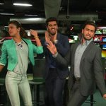 RT @SushantIBN: #Gunday @priyankachopra @RanveerOfficial & Arjun Kapoor at our CNN-IBN Newsroom in New Delhi @CNNIBNELounge @ibnlive http:/…