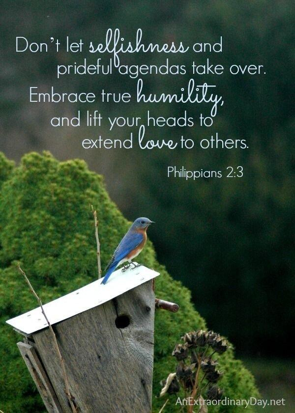 Don't let selfishness and prideful agendas take over. http://t.co/EbjIMTTLiw