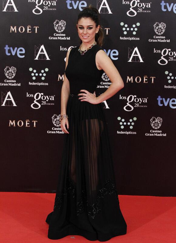 Blanca Suárez, muy sexy de negro y con transparencias, de @ElieSaabWorld #premiosGoya http://t.co/bSP5isC7I6 http://t.co/0v6K8YLVPT