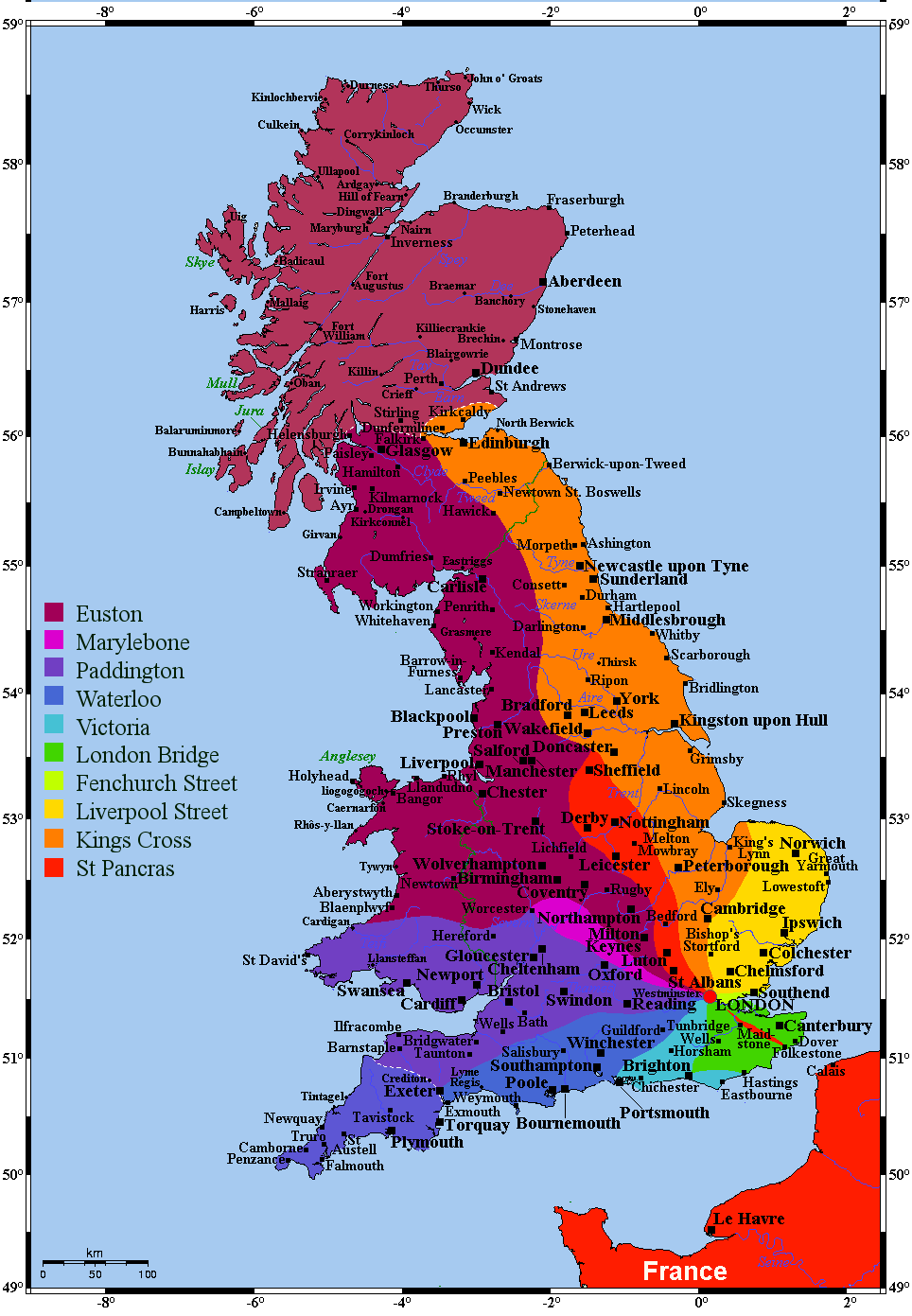 RT @_tomkeeley: RT @IncredibleMaps Where in the UK to London's Major Railway Stations take you? http://t.co/CoJBq76lHm