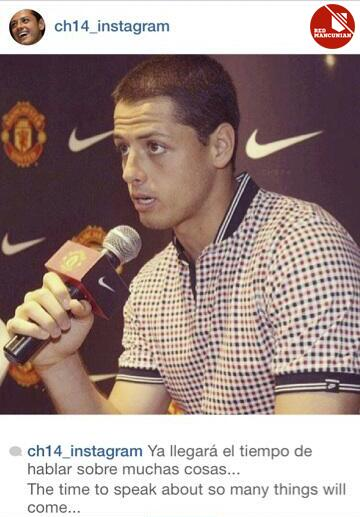 BgDtk2CCEAECGHd Man Uniteds Javier Hernandez posts on Instagram The time to speak about so many things will come