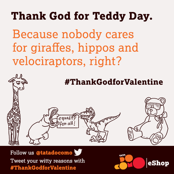 "#HappyTeddyDay! Why are you ""thankful"" for Teddy Day? Tweet your witty reasons with #ThankGodforValentine http://t.co/C8POzlNkjX"