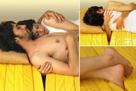 """There's a love mattress specifically designed to help cuddles deal with that """"awkward spooning arm"""" while cuddling. http://t.co/IgxwbKVL9x"""