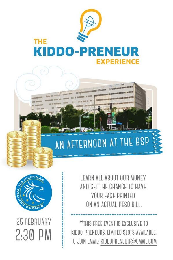 Calling all Kiddo-preneurs! Join us for a full filled trip to the BSP:) http://t.co/7lsktbc819