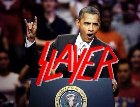 オバマ大統領はメタラー! http://t.co/f3dC4JQWsS