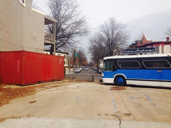 Merlindia at Farragut today. @elastichighways coming soon! Container vs. Bus showdown in @BloomingdaleDC #fb http://t.co/gQZzPSVzqs