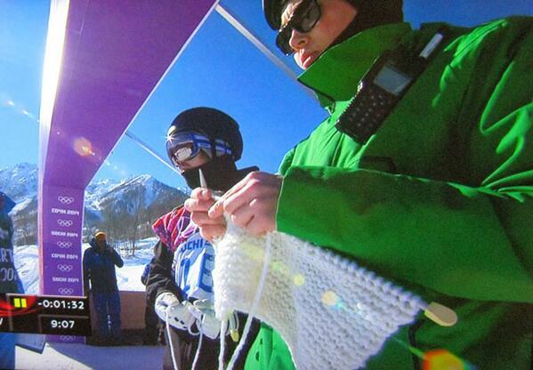 @marlothomas The Finnish snowboard coach knitting at the top of the slope! http://t.co/L0xvkJ3iIU
