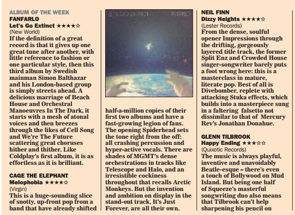"""ALBUM OF THE WEEK in the Daily Express.  """"with little reference to fashion or one particular style'. http://t.co/PJTCODvAE8"""