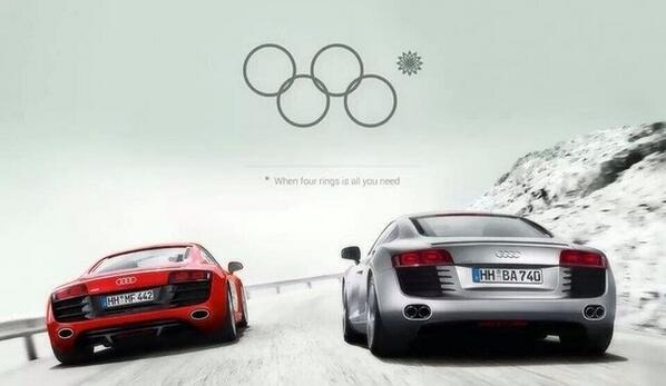 The marketing people at @Audi need to get a raise for this Olympic advertisement pronto http://t.co/pSQwdYzEGT