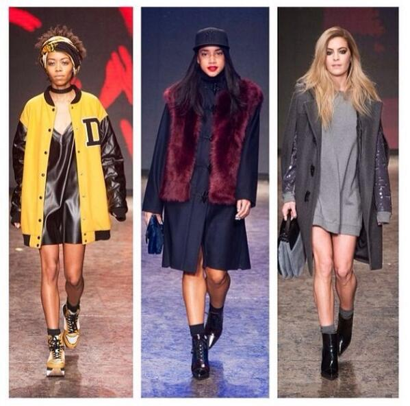 Yesterday walking in the @dkny show probably the first and last time this will happen haha #nyfw http://t.co/9e9Mml7mf6