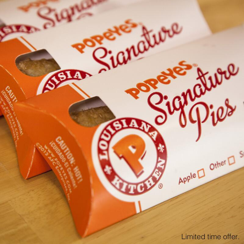February is Great American Pie Month, so say hello to our NEW Strawberry 'n Cream Cheese Pie at Popeyes http://t.co/NlRZeLY80j