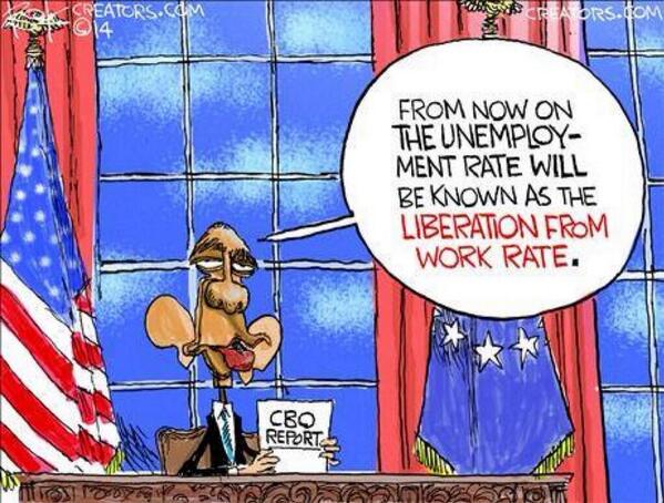 """Old and busted: """"unemployment"""" rate. New and shiny: """"Liberation from work"""" rate! http://t.co/JoS6SwlnWE"""