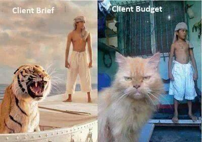 Visual representation of the difference between some client briefs and their corresponding budgets (via @TheRealSJR) http://t.co/8awkIzFDXL