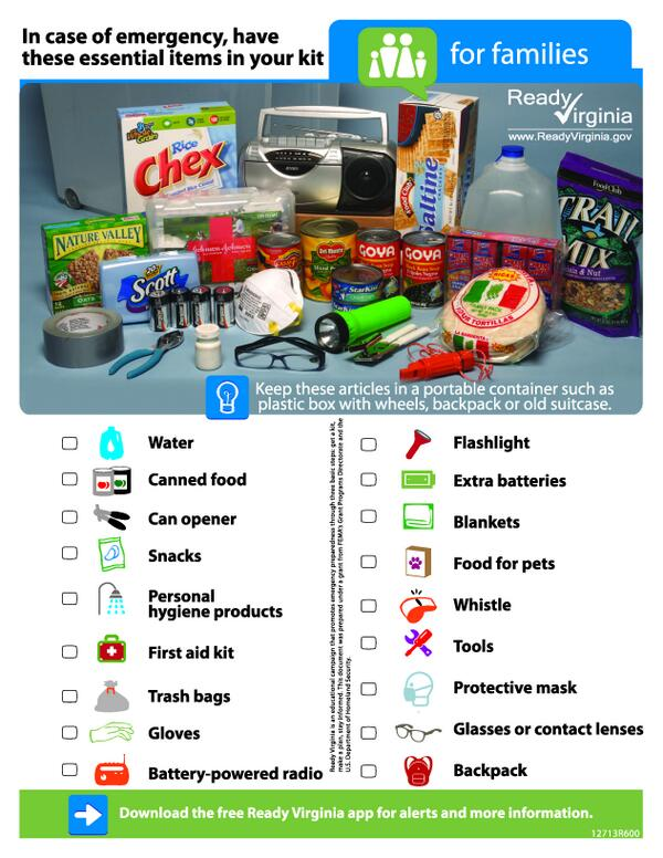 Get ready today for the potential storm Thurs. before the weather gets bad. Kit checklist: http://t.co/LxBYKGjehr http://t.co/EzI5ziaADH