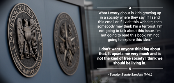 100% agree • RT @SenSanders: What I worry about... #NSA #StopTheNSA http://t.co/sgzw3wjk8F