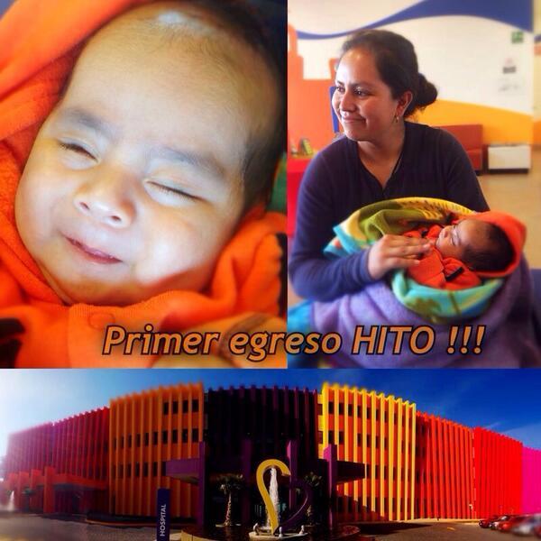 1er egreso del HITO! A Juan Pablo le operamos un cáncer en el ojo y le salvamos la vida. http://t.co/9yGSEnvL5c