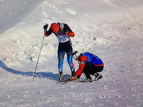 Canadian coach replaces Russian athlete's broken ski to let him finish race http://t.co/jLld17CnPi http://t.co/XW2diwr3a7