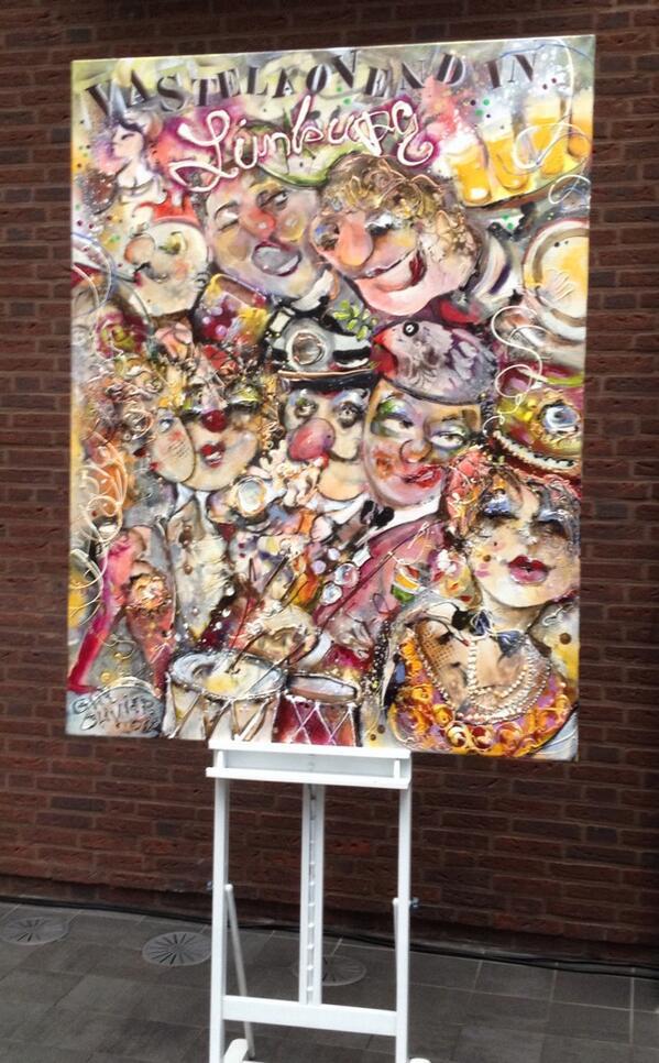 En dit is m dan ! Guy Olivier maakte het kunstwerk voor de Vastelaovesposter 2014 #L1 http://t.co/Uyyy5kHqye