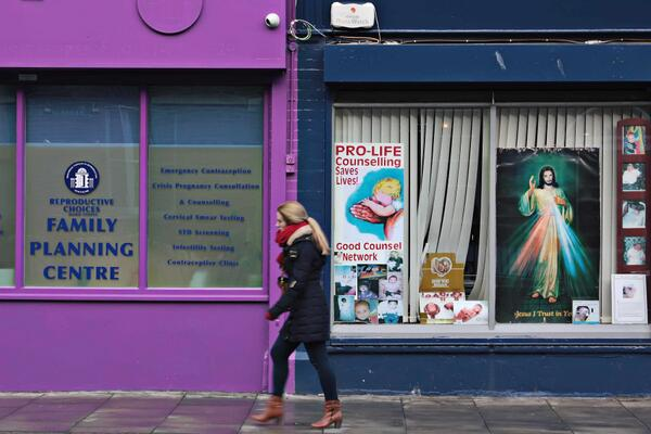 Nasty bit of prolife intimidation next to the Marie Stopes clinic in town. If you go next door Jesus will get you. http://t.co/QBtmS2sngI