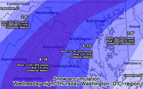 Here's our snowfall map for Wed night-Thurs storm, issued noon today: http://t.co/E8bNDTrWFI