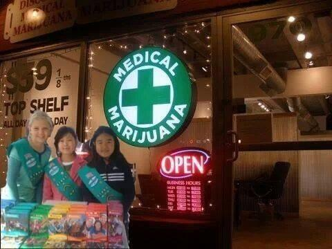 Well...Girl Scout cookie season is upon us.... Location, Location Location. http://t.co/HvKRzAi0Oe