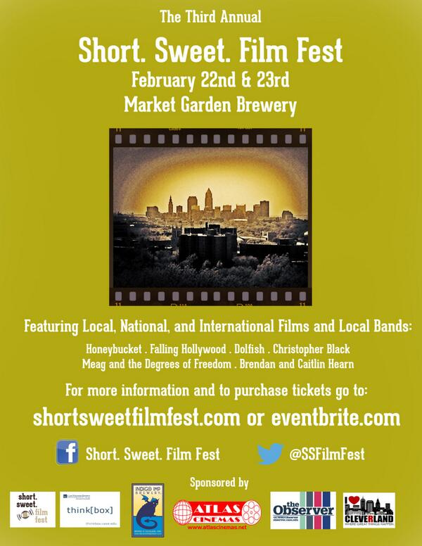 February 22nd & 23rd, join us for the Short. Sweet. Film. Fest!  Films under 25 min, beer and bands! http://t.co/i24DsfqXjm