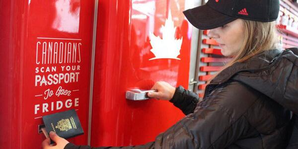 Canadian Olympians can swipe their passport to open up this beer fridge in Sochi. http://t.co/DTL2E5rMmr <— Read it http://t.co/4njHOqjsK6