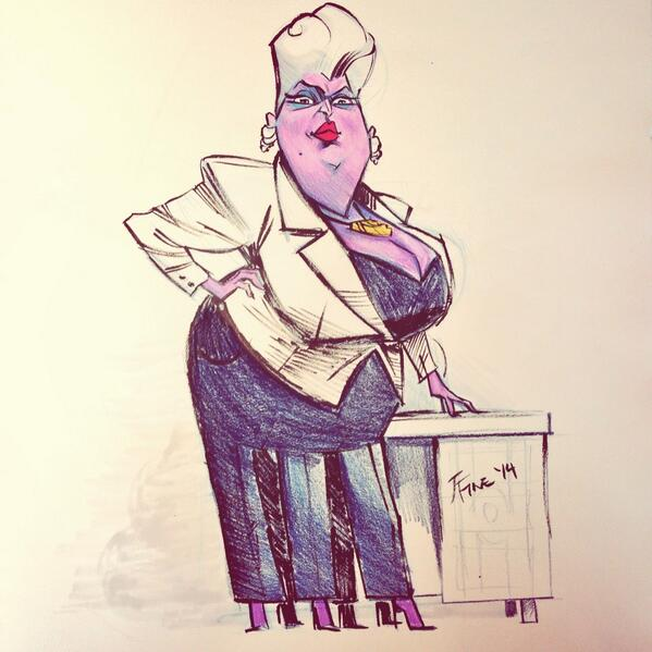 @Sketch_Dailies #Ursula: 80s/90's paranoia of female empowerment & sexual agency embodied #sketch_dailies #SeaBitch http://t.co/3phQvJfKEB