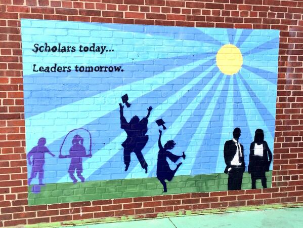 Check out this awesome mural from DC Scholars Stanton Elementary, where @arneduncan visited yesterday #latergram http://t.co/nhjNLsVbq5