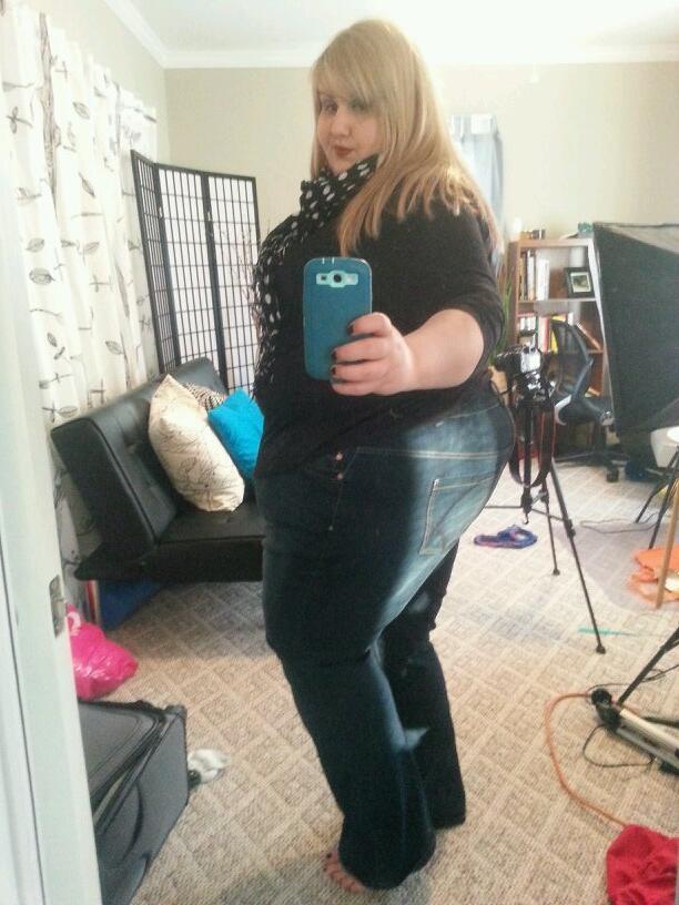 Ssbbw in tight jeans