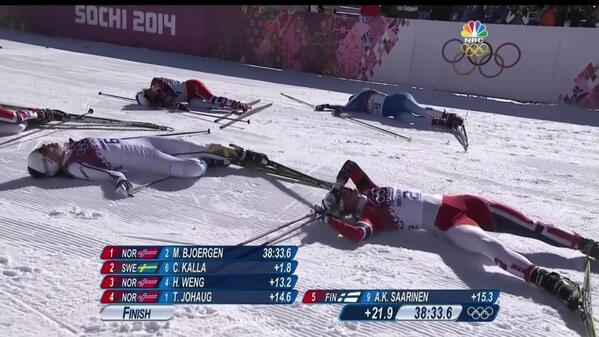 Cross Country skiing sure looks enjoyable, doesn't it? #Sochi2014 http://t.co/Bntf3rwvFw