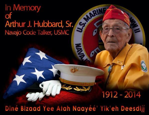 A hero died today. http://t.co/2U4LrRKkj7 rest in peace Code Talker #veterans http://t.co/aCspNsjdmF
