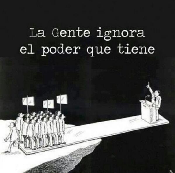 La gente ignora el poder que tiene #12FVenezuelaPaLaCalle #MañanaEsElDiaVenezuela http://t.co/NO81QBV7JA
