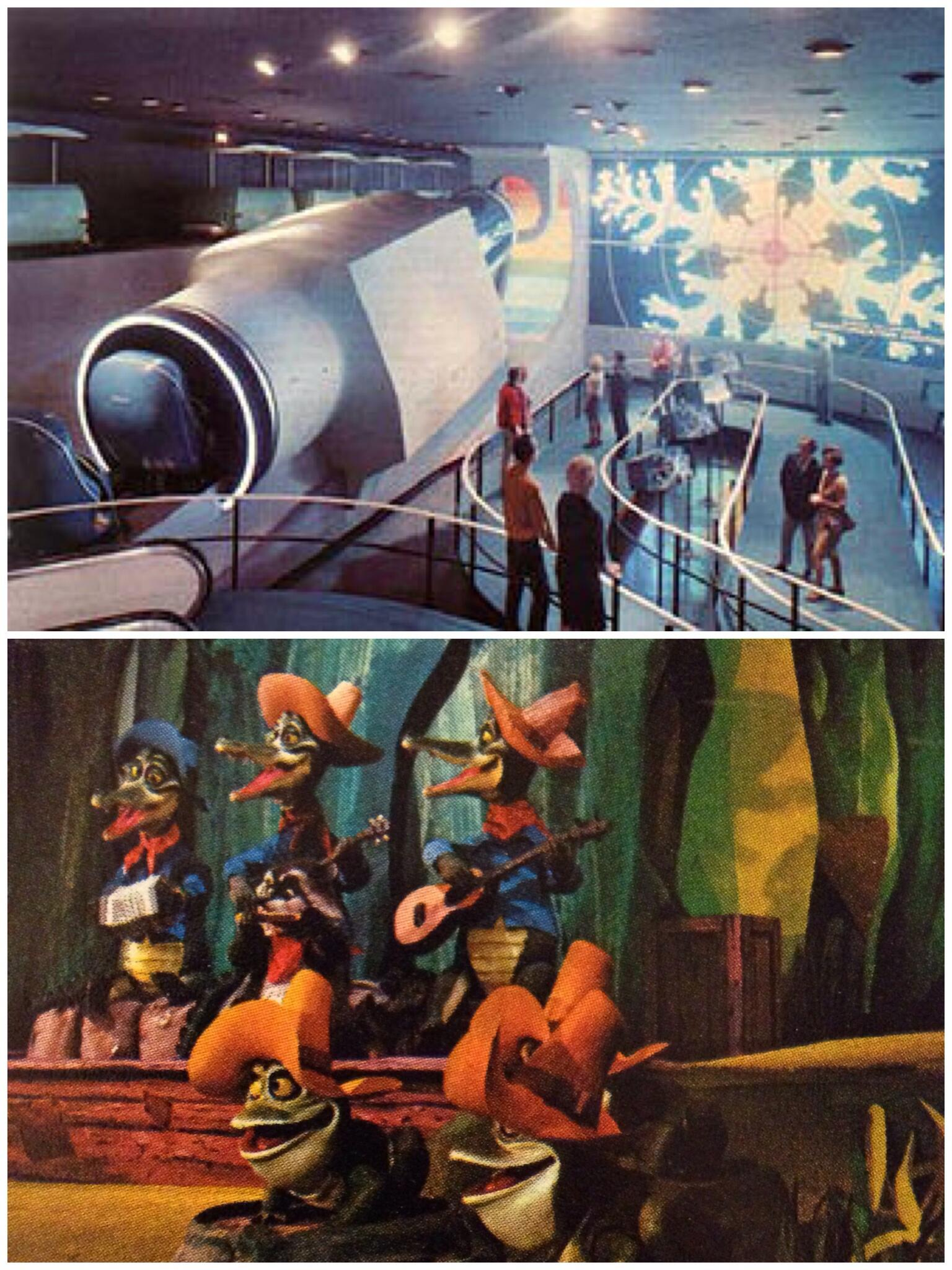 WOULD YOU RATHER go back and ride Disneyland's Adventure Thru Inner Space or experience America Sings? http://t.co/n6YgTcqFJv