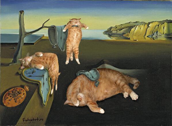 補足)@Kontan_Bigcat いっぱいRTされているから、ダリのやつも紹介しておく。これはなんだか猫がしっくり来る。 http://t.co/6YmWLzt6r9
